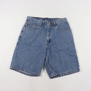 90s Levis Mens 35 560 Loose Fit Denim Shorts Blue